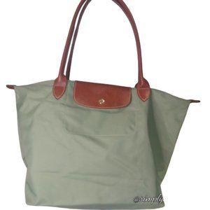 Longchamp Mint Nylon Le Pliage Shopping Tote